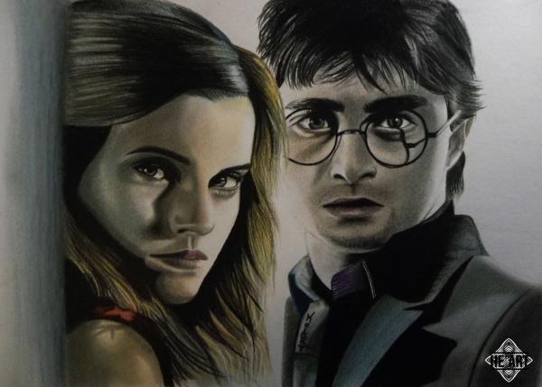 Emma Watson, Daniel Radcliffe by Smiley
